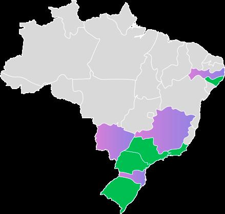 Estados atendidos pela Procondutor